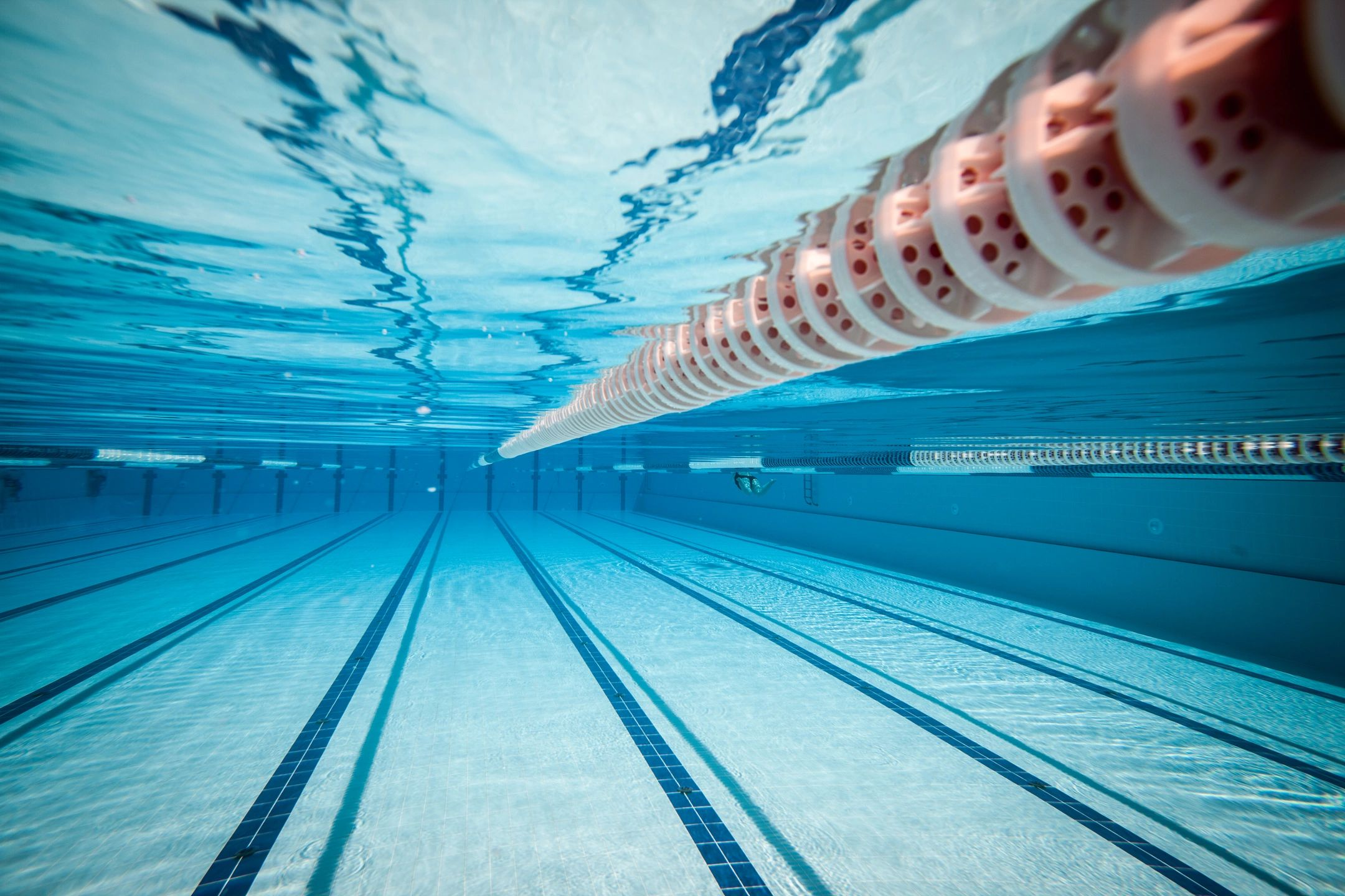 swim lanes underwater in pool